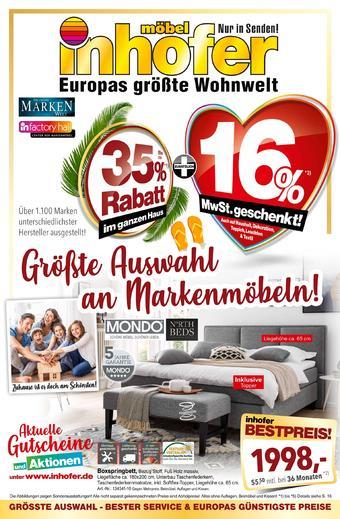 Möbel Inhofer Prospekt (bis einschl. 29-08)