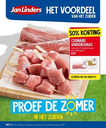 Jan Linders reclame folder (geldig t/m 16-08)