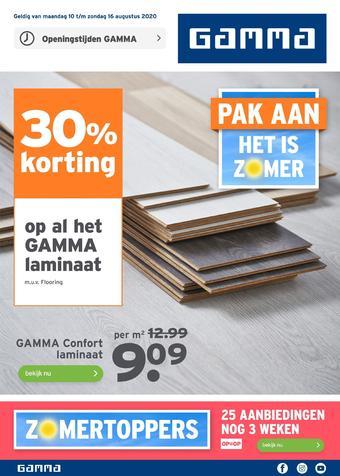 GAMMA reclame folder (geldig t/m 16-08)