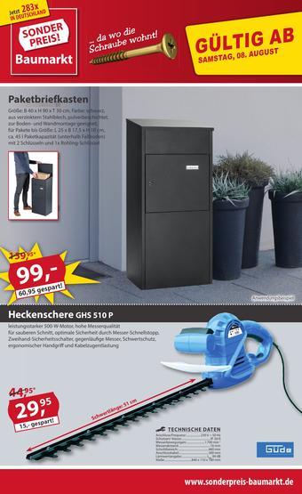 Sonderpreis Baumarkt Prospekt (bis einschl. 14-08)