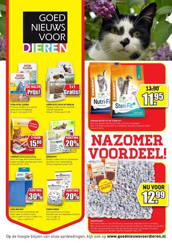 Goed Nieuws Voor Dieren reclame folder (geldig t/m 23-08)