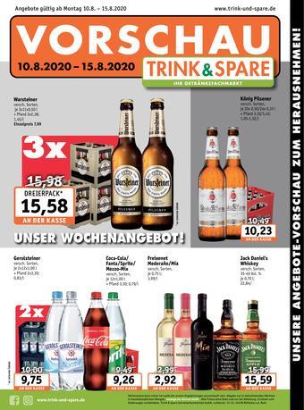 Trink und Spare Prospekt (bis einschl. 15-08)