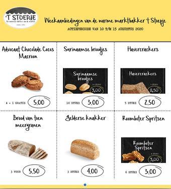 Bakkerij 't Stoepje reclame folder (geldig t/m 15-08)