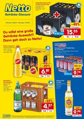 Netto Getränke Discount Prospekt (bis einschl. 15-08)