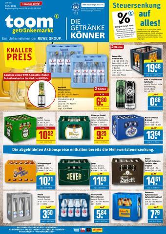 toom Getränkemarkt Prospekt (bis einschl. 22-08)