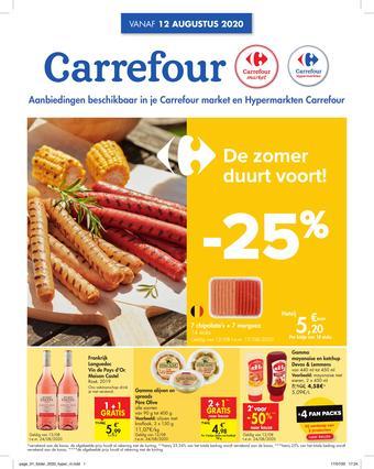 Carrefour Market reclame folder (geldig t/m 17-08)