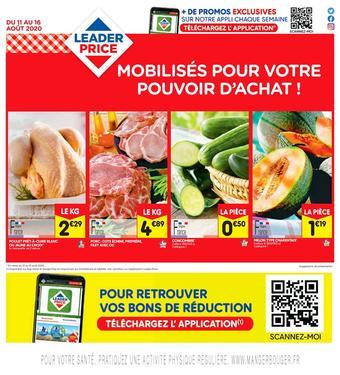 Leader Price catalogue publicitaire (valable jusqu'au 16-08)