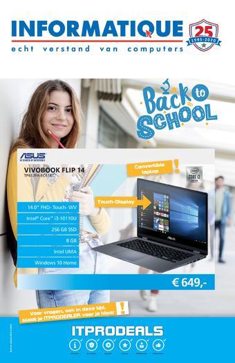 Informatique reclame folder (geldig t/m 30-08)