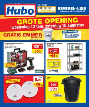 Hubo reclame folder (geldig t/m 23-08)