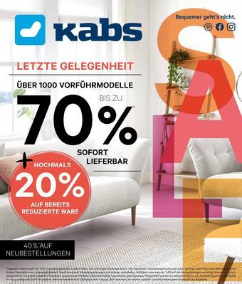 Kabs Polsterwelt Prospekt (bis einschl. 25-08)