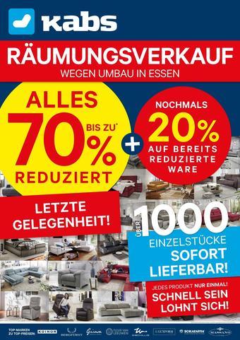 Kabs Polsterwelt Prospekt (bis einschl. 31-08)