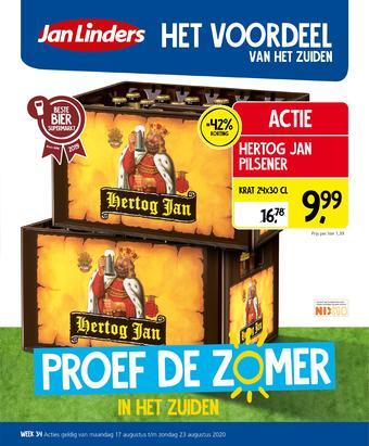 Jan Linders reclame folder (geldig t/m 23-08)