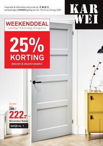 Karwei reclame folder (geldig t/m 18-08)