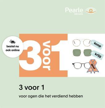 Pearle reclame folder (geldig t/m 30-09)