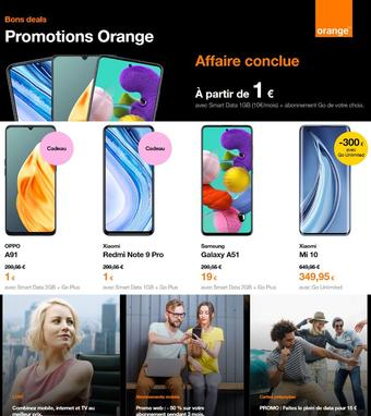Orange reclame folder (geldig t/m 22-09)