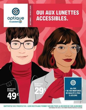 E.Leclerc Optique catalogue publicitaire (valable jusqu'au 20-09)