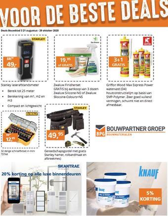 BPG Bouwpartner Groep reclame folder (geldig t/m 29-10)