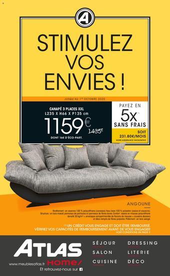 Meubles Atlas catalogue publicitaire (valable jusqu'au 01-10)