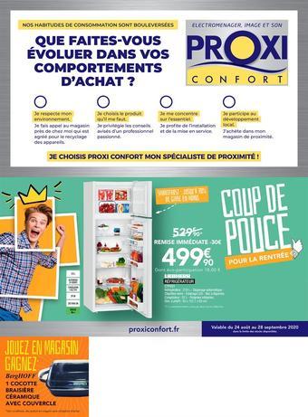 Proxi Confort catalogue publicitaire (valable jusqu'au 28-09)