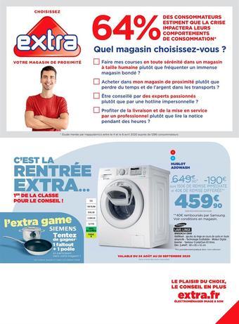 Extra catalogue publicitaire (valable jusqu'au 28-09)