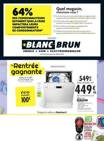 Blanc Brun catalogue publicitaire (valable jusqu'au 28-09)