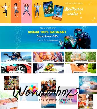 Wonderbox catalogue publicitaire (valable jusqu'au 14-10)