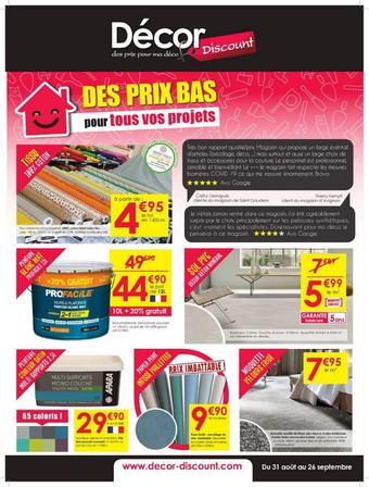 Décor Discount catalogue publicitaire (valable jusqu'au 26-09)