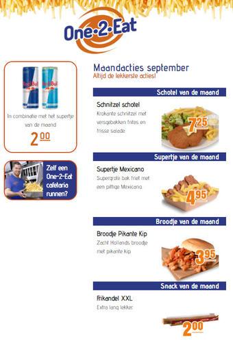 One 2 Eat reclame folder (geldig t/m 30-09)