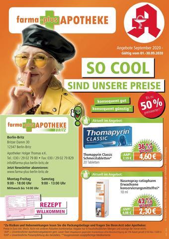 farma-plus Apotheken Prospekt (bis einschl. 30-09)