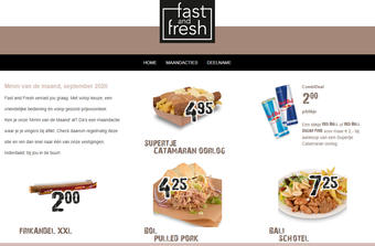 Fast and Fresh reclame folder (geldig t/m 30-09)