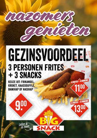 Big Snack reclame folder (geldig t/m 30-09)