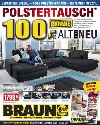 Möbel Braun Prospekt (bis einschl. 30-09)