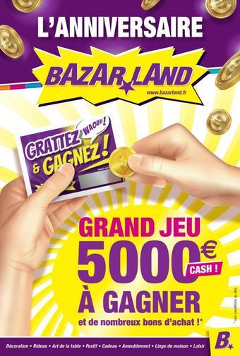 Bazarland catalogue publicitaire (valable jusqu'au 20-09)