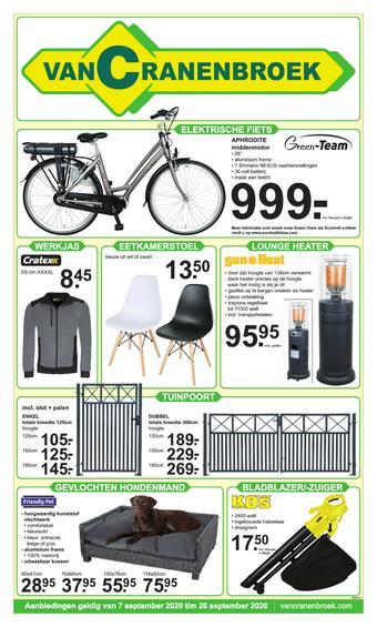 Van Cranenbroek reclame folder (geldig t/m 26-09)