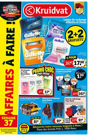 Kruidvat catalogue publicitaire (valable jusqu'au 20-09)