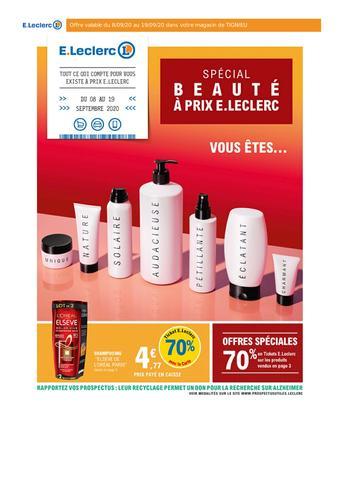 E.Leclerc catalogue publicitaire (valable jusqu'au 19-09)
