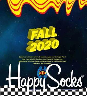 Happy Socks reclame folder (geldig t/m 31-10)