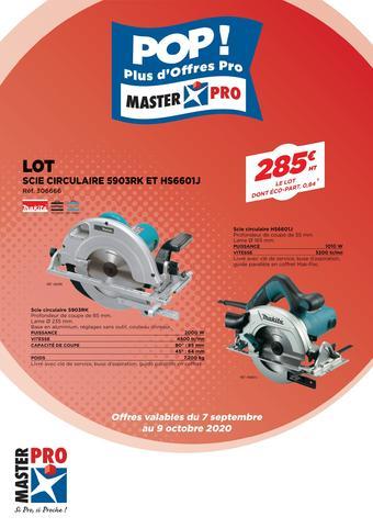 Master Pro catalogue publicitaire (valable jusqu'au 09-10)