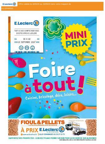 E.Leclerc catalogue publicitaire (valable jusqu'au 20-09)