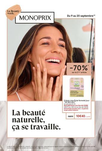Monop' Beauty catalogue publicitaire (valable jusqu'au 20-09)