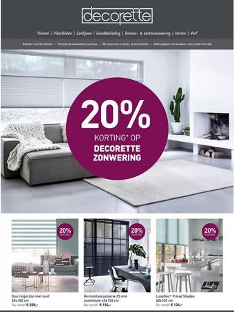 Decorette reclame folder (geldig t/m 30-09)
