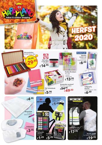 Happyland reclame folder (geldig t/m 03-10)