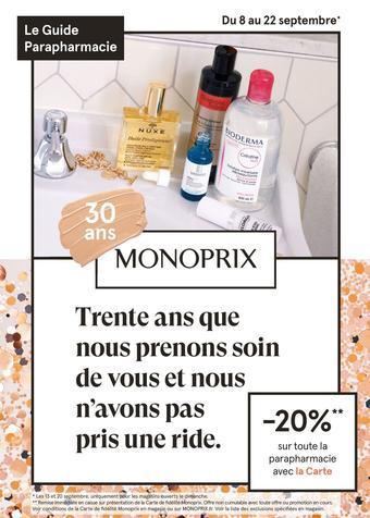 Monoprix catalogue publicitaire (valable jusqu'au 22-09)