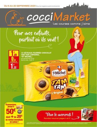 Coccimarket catalogue publicitaire (valable jusqu'au 20-09)