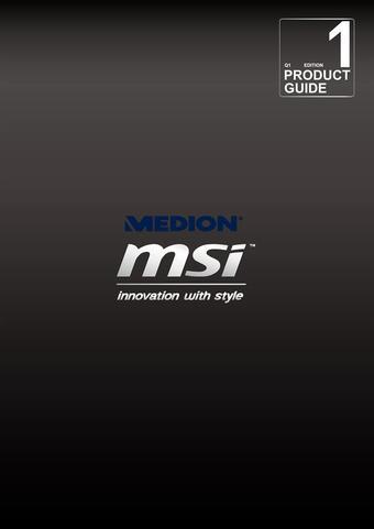 Medion reclame folder (geldig t/m 30-09)