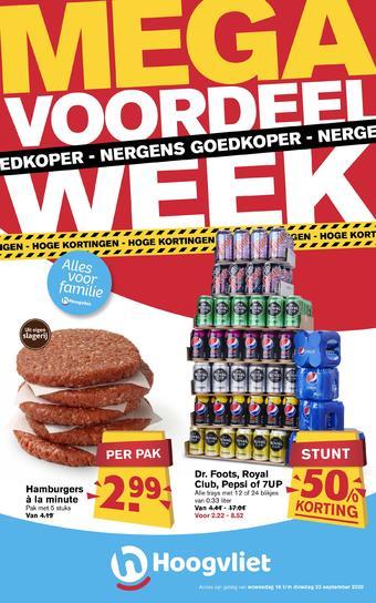 Hoogvliet reclame folder (geldig t/m 22-09)