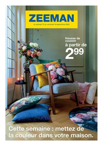 Zeeman catalogue publicitaire (valable jusqu'au 18-09)