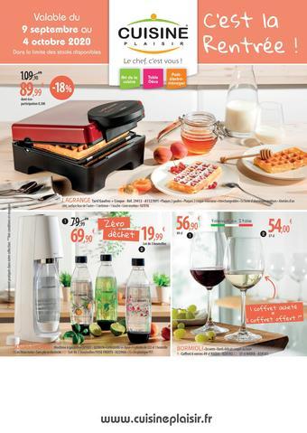 Cuisine Plaisir catalogue publicitaire (valable jusqu'au 04-10)