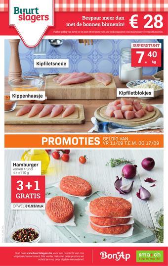 Buurtslagers reclame folder (geldig t/m 08-10)