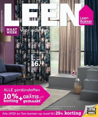 Leen Bakker reclame folder (geldig t/m 27-09)